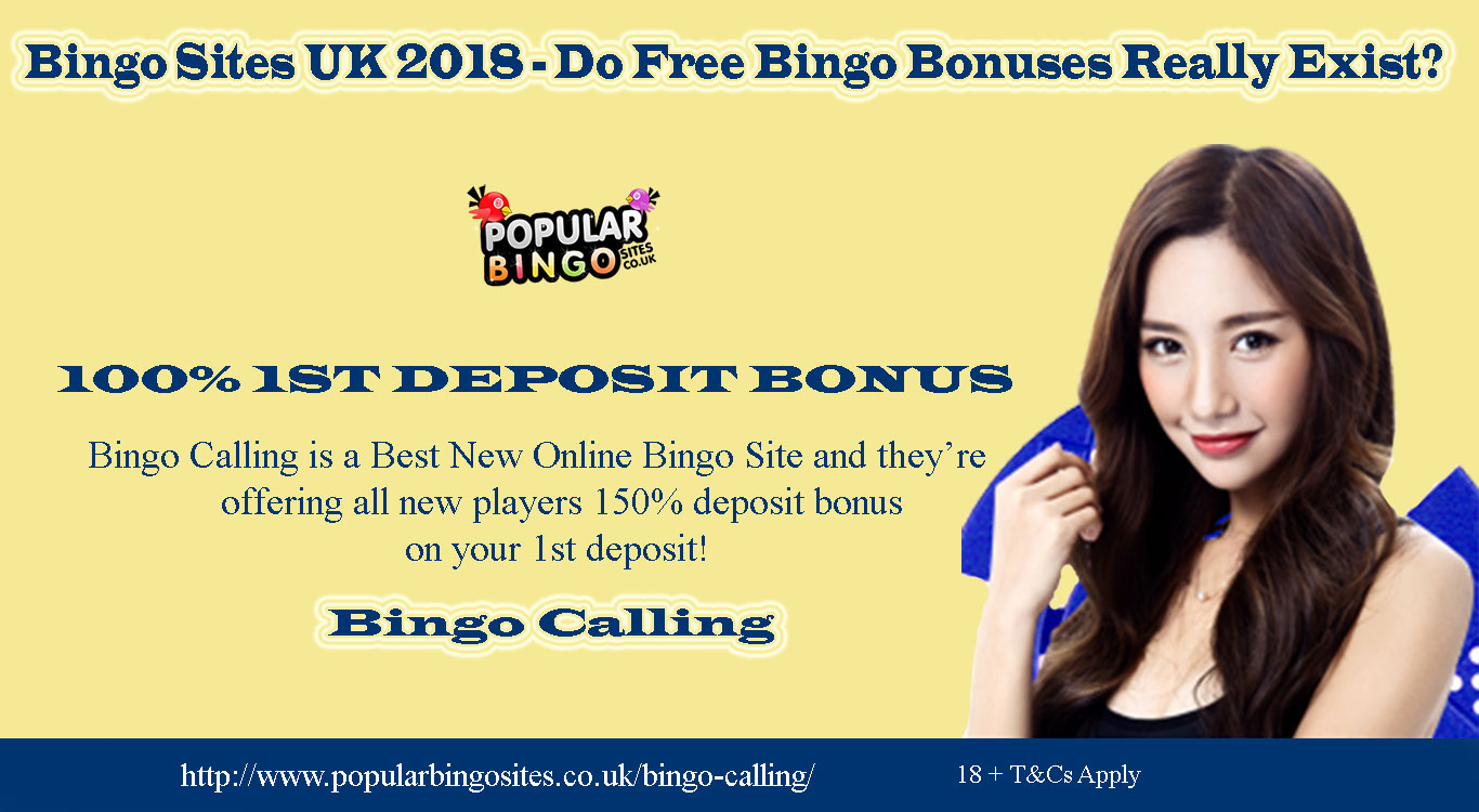 Bingo Sites UK 2018 – Do Free Bingo Bonuses Really Exist?