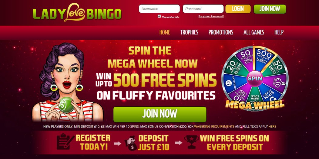 Play Online Bingo – Lady Love Bingo